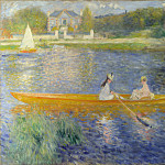 Pierre-Auguste Renoir – The Skiff , Part 5 National Gallery UK