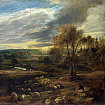 Peter Paul Rubens – A Landscape with a Shepherd and his Flock, Part 5 National Gallery UK