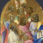 Part 5 National Gallery UK - Lorenzo Monaco - Adoring Saints - Left Main Tier Panel
