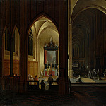 Pieter Neeffs the Elder and Bonaventura Peeters the Elder – An Evening Service in a Church, Part 5 National Gallery UK