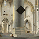 Pieter Saenredam – The Interior of the Grote Kerk at Haarlem, Part 5 National Gallery UK
