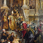 Peter Paul Rubens – Saint Bavo is received by Saints Amand and Floribert, Part 5 National Gallery UK