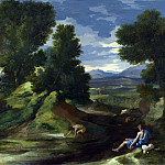Nicolas Poussin – Landscape with a Man scooping Water from a Stream, Part 5 National Gallery UK
