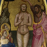 Niccolo di Pietro Gerini – The Baptism of Christ – Main Tier Central Panel, Part 5 National Gallery UK