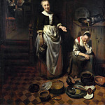 The Idle Servant, Nicolaes Maes