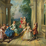 Nicolas Lancret – The Four Ages of Man – Childhood, Part 5 National Gallery UK