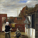Pieter de Hooch – A Woman and her Maid in a Courtyard, Part 5 National Gallery UK