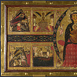 Margaritone of Arezzo – The Virgin and Child Enthroned, with Narrative Scenes, Part 5 National Gallery UK