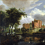 Meindert Hobbema – The Ruins of Brederode Castle, Part 5 National Gallery UK