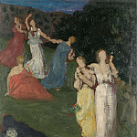 Pierre-Cecile Puvis de Chavannes – Death and the Maidens, Part 5 National Gallery UK