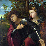 Palma Vecchio – Saint George and a Female Saint, Part 5 National Gallery UK