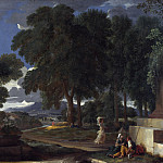 Nicolas Poussin – Landscape with a Man washing his Feet at a Fountain, Part 5 National Gallery UK
