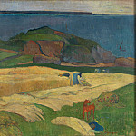 Paul Gauguin – Harvest – Le Pouldu, Part 5 National Gallery UK