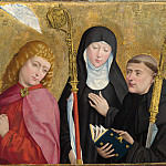 Master of Liesborn – Saints John the Evangelist, Scholastica and Benedict, Part 5 National Gallery UK
