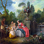 Nicolas Lancret – A Lady in a Garden taking Coffee with some Children, Part 5 National Gallery UK