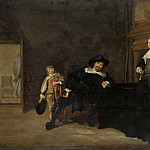 Pieter Codde – Portrait of a Man, a Woman and a Boy in a Room, Part 5 National Gallery UK