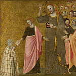Master of the Blessed Clare – Vision of the Blessed Clare of Rimini, Part 5 National Gallery UK