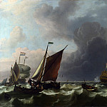 Ludolf Bakhuizen – Dutch Men-of-war off Enkhuizen, Part 5 National Gallery UK