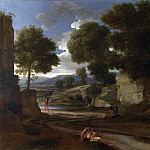 Nicolas Poussin – Landscape with Travellers Resting, Part 5 National Gallery UK