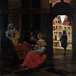 Pieter de Hooch – A Musical Party in a Courtyard, Part 5 National Gallery UK