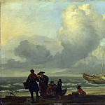 Ludolf Bakhuizen – A Beach Scene with Fishermen, Part 5 National Gallery UK