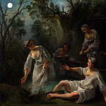 Nicolas Lancret – The Four Times of Day – Evening, Part 5 National Gallery UK
