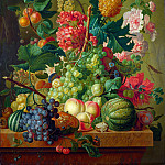 Paulus Theodorus van Brussel – Fruit and Flowers, Part 5 National Gallery UK