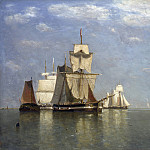 Paul Jean Clays – Ships lying off Flushing, Part 5 National Gallery UK
