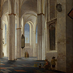 Pieter Saenredam – The Interior of the Buurkerk at Utrecht, Part 5 National Gallery UK