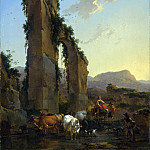 Peasants by a Ruined Aqueduct, Nicolaes (Claes Pietersz.) Berchem