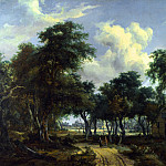 Meindert Hobbema – A Woody Landscape with a Cottage, Part 5 National Gallery UK