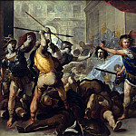 Perseus turning Phineas and his Followers to Stone, Luca Giordano