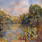 Pierre-Auguste Renoir – Lakeside Landscape, Part 5 National Gallery UK