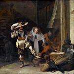 Pieter Quast – A Man and a Woman in a Stableyard, Part 5 National Gallery UK