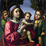 Paolo Morando – The Virgin and Child with the Baptist and an Angel, Part 5 National Gallery UK