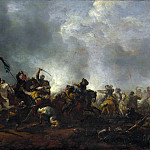Cavalry attacking Infantry, Philips Wouwerman