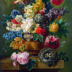 Paulus Theodorus van Brussel – Flowers in a Vase, Part 5 National Gallery UK