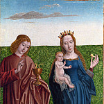 Master of the Saint Bartholomew Altarpiece – Saints Peter and Dorothy, Part 5 National Gallery UK