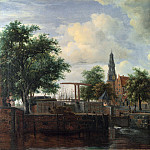 Meindert Hobbema – The Haarlem Lock, Amsterdam, Part 5 National Gallery UK