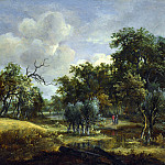 Meindert Hobbema – A Stream by a Wood, Part 5 National Gallery UK