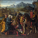 Michele da Verona – Coriolanus persuaded by his Family to spare Rome, Part 5 National Gallery UK