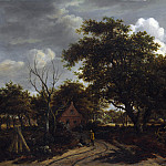 Meindert Hobbema – Cottages in a Wood, Part 5 National Gallery UK