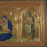 Lorenzo Veneziano – The Madonna of Humility with Saints Mark and John, Part 5 National Gallery UK