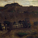 Matthijs Maris – Men unloading Carts, Montmartre, Part 5 National Gallery UK