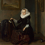 Pieter Codde – A Woman holding a Mirror, Part 5 National Gallery UK