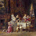 Louis-Gabriel Eugene Isabey – Grandfathers Birthday, Part 5 National Gallery UK