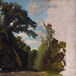 Paul Huet – Trees in the Park at Saint-Cloud, Part 5 National Gallery UK