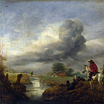 Two Vedettes on the Watch by a Stream, Philips Wouwerman