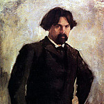 Valentin Serov - Portrait of the Artist VISurikov. End 1890