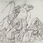 Valentin Serov - Acceleration Cossacks demonstrators in 1905. 1905
